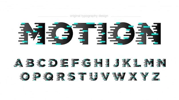 Typographie d'effet de mouvement abstrait Vecteur Premium