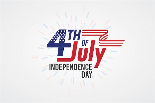 Typographie fête de l'indépendance de l'amérique Vecteur Premium