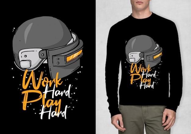 Typographie inspiration pour t-shirt Vecteur Premium