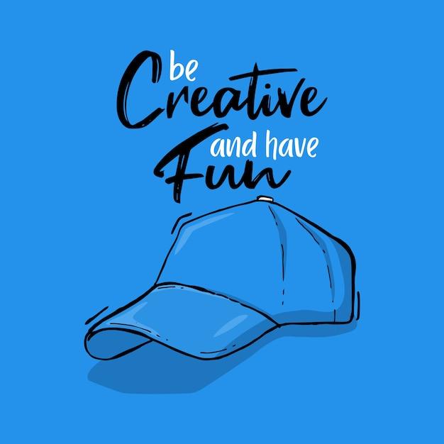 Typographie main lettrage chapeau citation Vecteur Premium