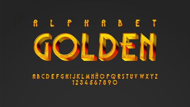 Typographie Moderne Avec Un Bel Effet Doré Vecteur Premium