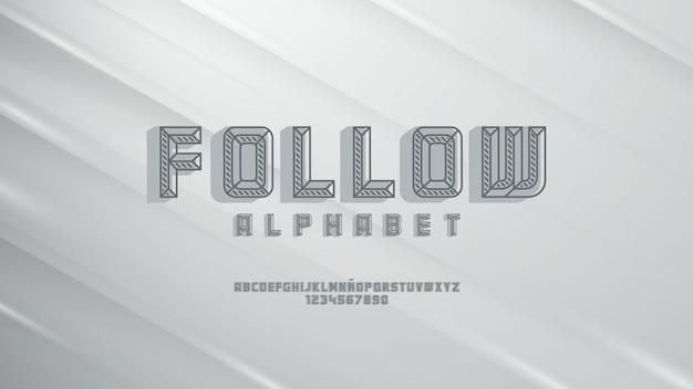Typographie Moderne Avec Un Bel Effet De Lignes Vecteur Premium