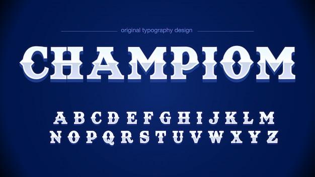 Typographie moderne de sport gris bleu Vecteur Premium