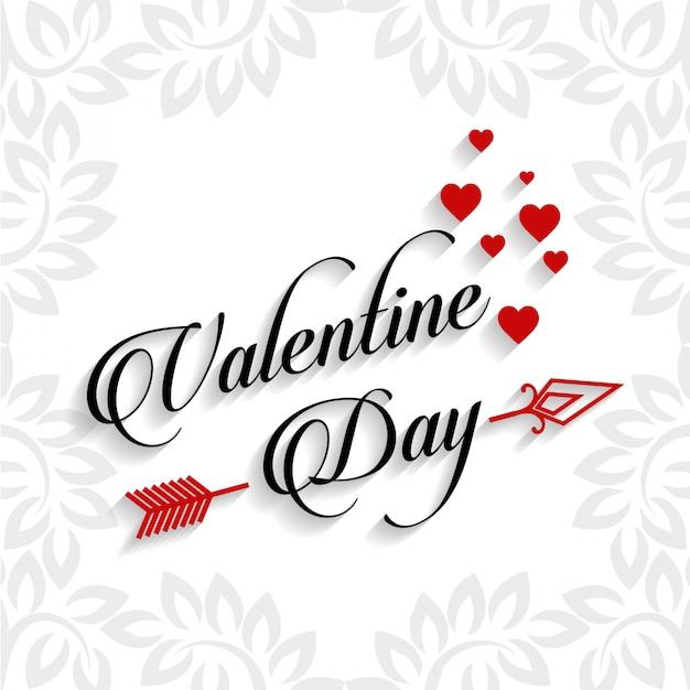 Typographie saint valentin Vecteur Premium
