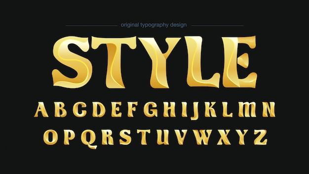 Typographie seric golden classic Vecteur Premium