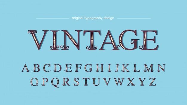 Typographie serif vintage simple simple Vecteur Premium