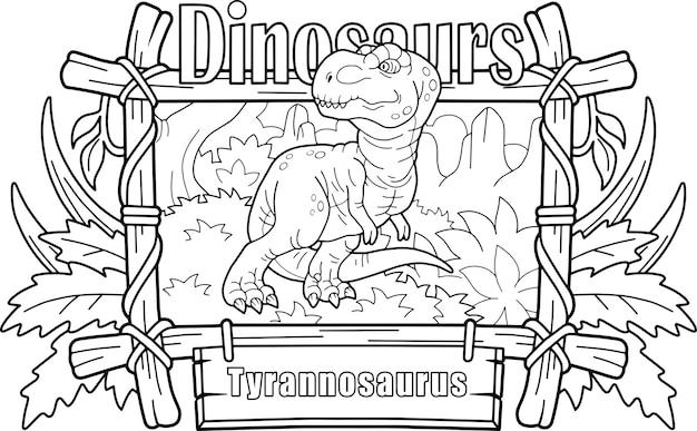 Tyrannosaure De Dinosaure Vecteur Premium