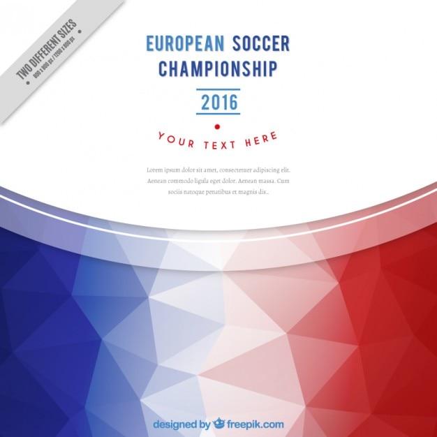 Uefa fond avec polygonale drapeau france Vecteur gratuit