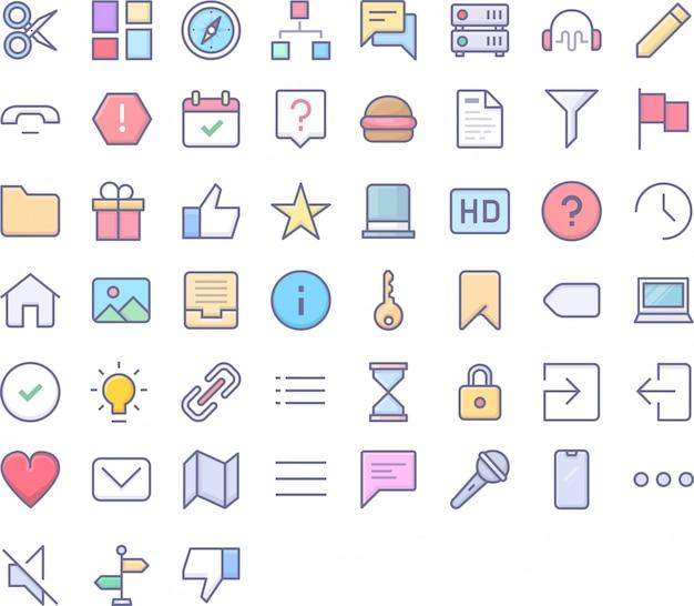 Ui icon pack Vecteur Premium
