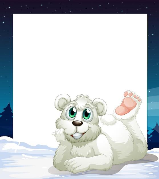 un mod le vide avec un ours polaire souriant au fond t l charger des vecteurs gratuitement. Black Bedroom Furniture Sets. Home Design Ideas
