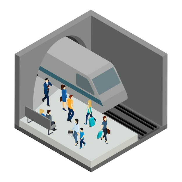 Underground people illustration Vecteur gratuit