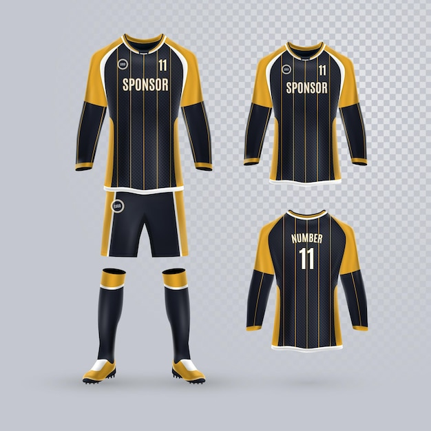 Uniforme De Football Vecteur gratuit