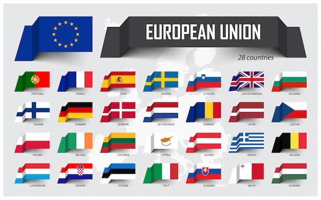 Union européenne Vecteur Premium