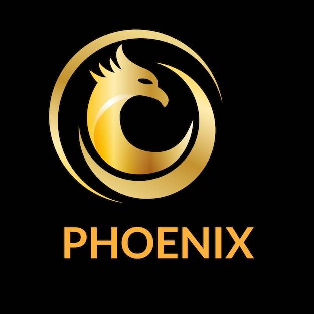 Unique phoenix logo design vector Vecteur Premium