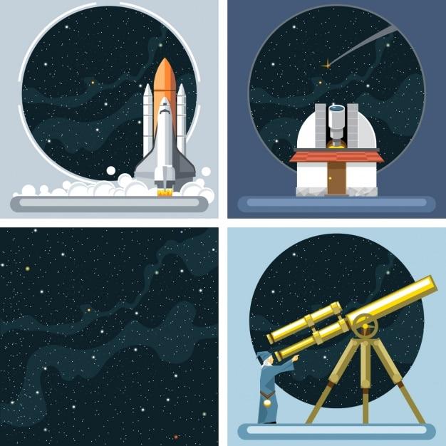 Univers et constellations Vecteur gratuit