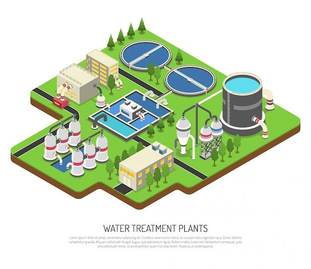 Usines De Traitement De L'eau Vecteur gratuit