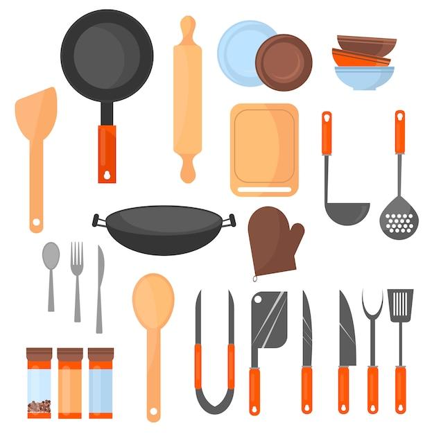 Ustensile de cuisine Vecteur Premium