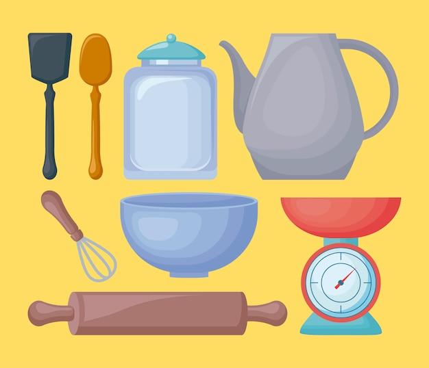 Ustensiles de cuisine Vecteur gratuit