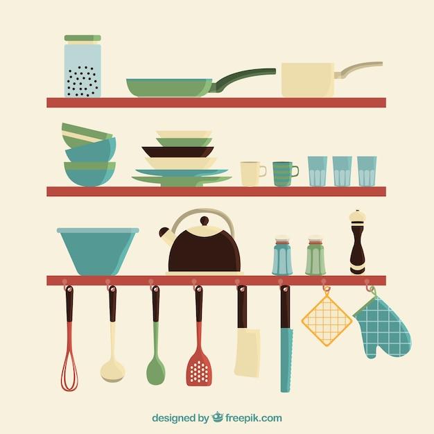 Ustensiles de cuisine set t l charger des vecteurs for Set ustensile de cuisine
