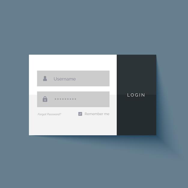 Utilisateur De Connexion Minimale Conception De Formulaire D'interface Vecteur gratuit