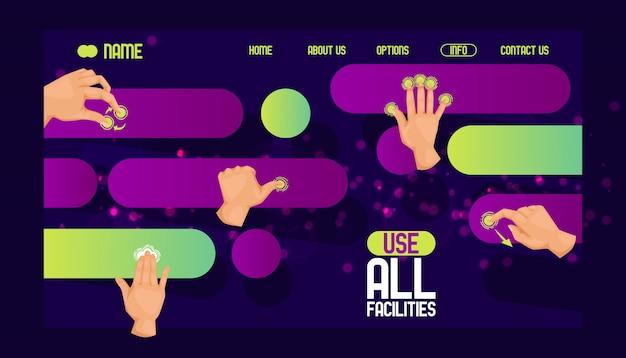 Utilisez Tous Les Sites Web De Conception De Sites. Interface Conviviale Vecteur Premium