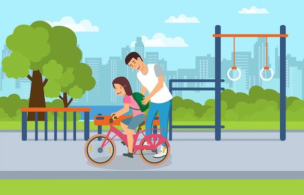 Utilisez zone urbaine commune par les enfants et les adultes. Vecteur Premium