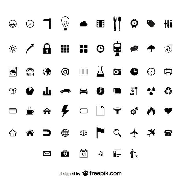 utilitaire identifie petite icône vecteur matériel Vecteur gratuit