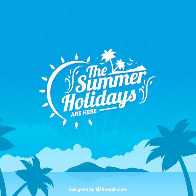Les Vacances D'été Fond Vecteur gratuit