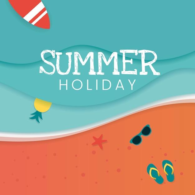 Vacances d'été tropicales Vecteur gratuit