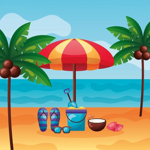 Vacances d'été Vecteur Premium