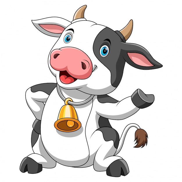 Vache Dessin Animé Heureux Télécharger Des Vecteurs Premium
