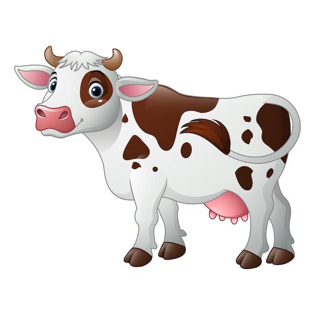 Vache De Dessin Anime Heureux Telecharger Des Vecteurs Premium