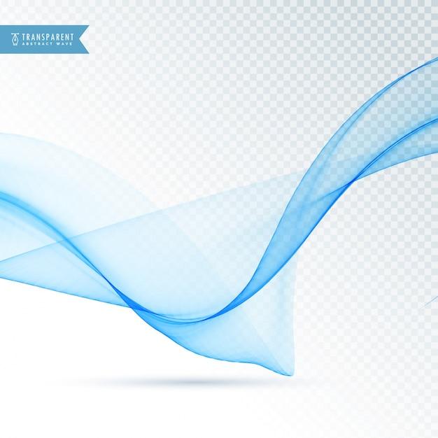 vague bleue qui coule sur fond transparent