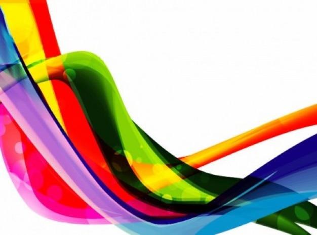 Vague colorée sur fond blanc Vecteur gratuit