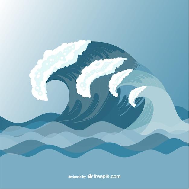 Vagues de la mer de mod le de dessin vectoriel t l charger des vecteurs gratuitement - Vague coloriage ...