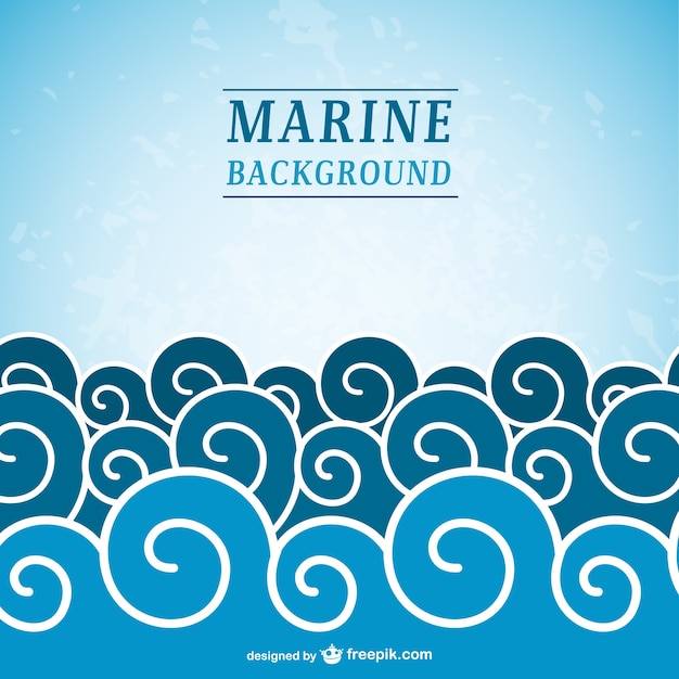 Vagues de la mer fond Vecteur gratuit