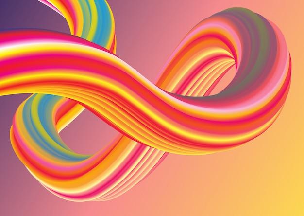 Vagues pastel de style rétro 3d Vecteur gratuit