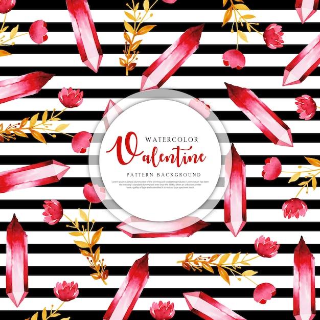 Valentine Black Stripe Pattern Background Vecteur Premium