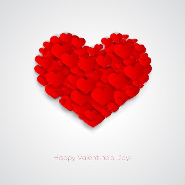 Valentines card avec coeur Vecteur Premium