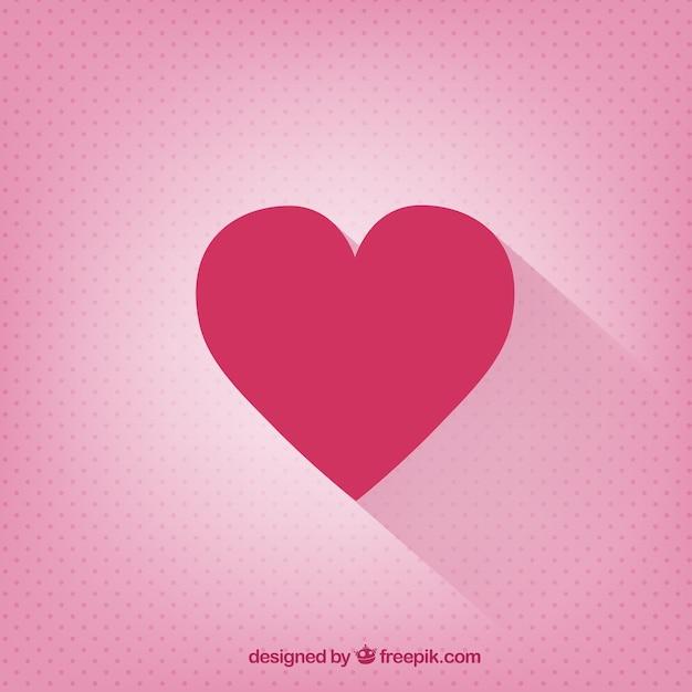 Valentines day card avec un cœur plat Vecteur gratuit