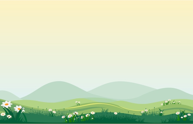 Vallée verte Vecteur Premium