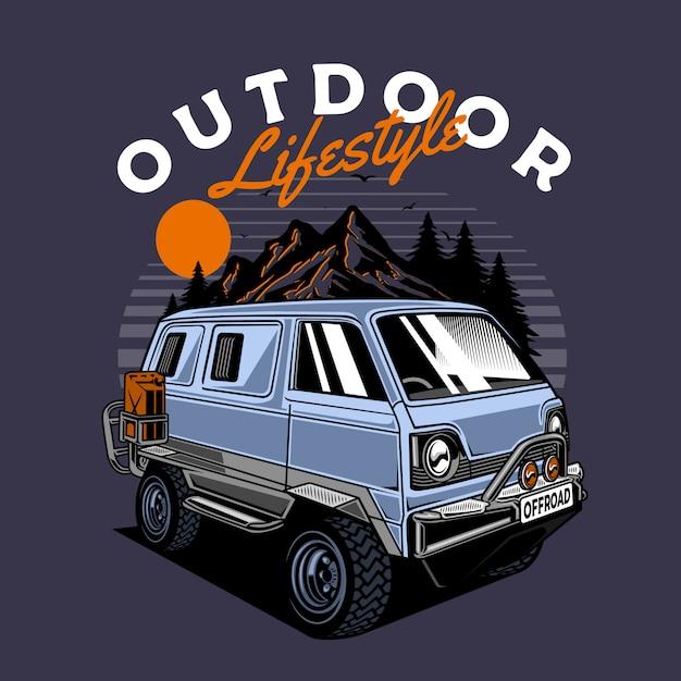 Vans 4x4 Vecteur Premium