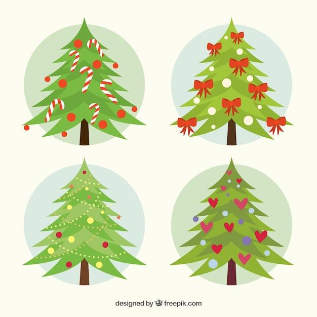 Vari t d 39 arbres de no l d cor t l charger des vecteurs - Arbre de noel decore ...