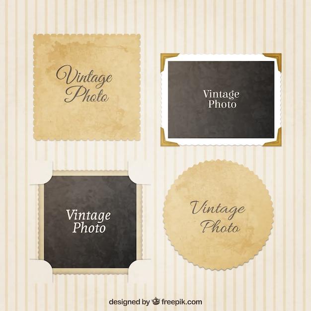 vari t de cadres photo vintage t l charger des vecteurs premium. Black Bedroom Furniture Sets. Home Design Ideas
