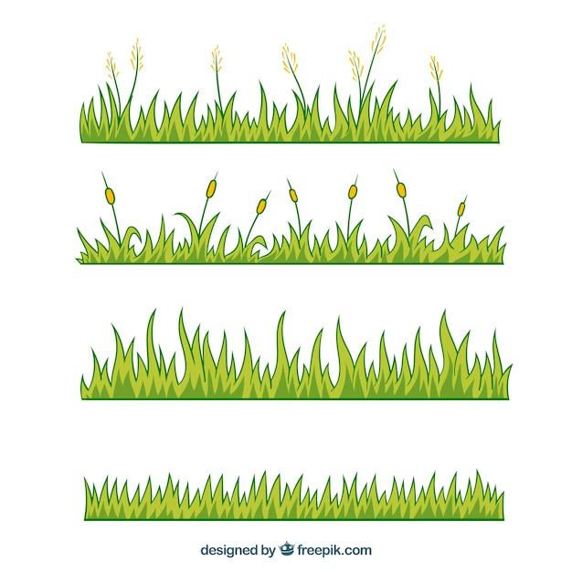 vari t des bordures d coratives herbe dans le style dessin la main t l charger des. Black Bedroom Furniture Sets. Home Design Ideas