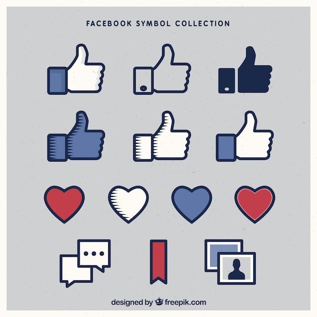 Variété D'icônes Facebook Vecteur gratuit