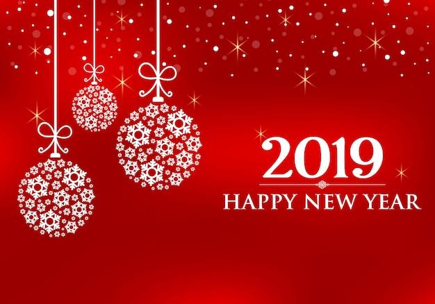 Vecteur 2019 Bonne Année. Vecteur Premium