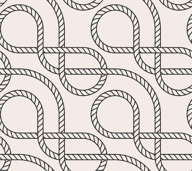 Vecteur abstrait corde sans soudure Vecteur Premium