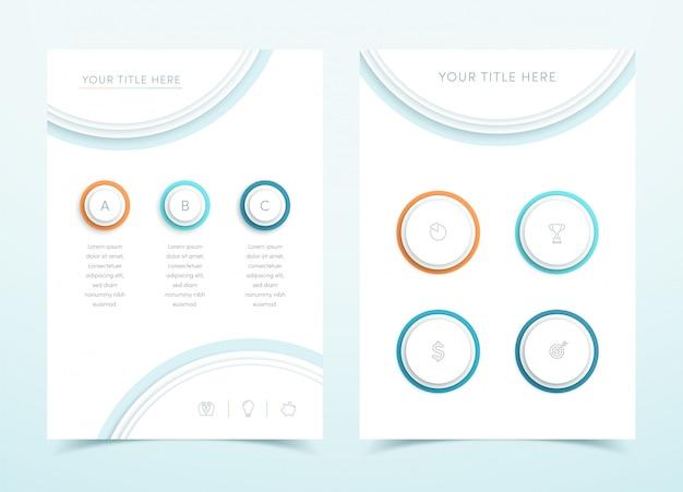 Vecteur D'affaires Coloré 3d Modèle De Page Infographique Vecteur Premium