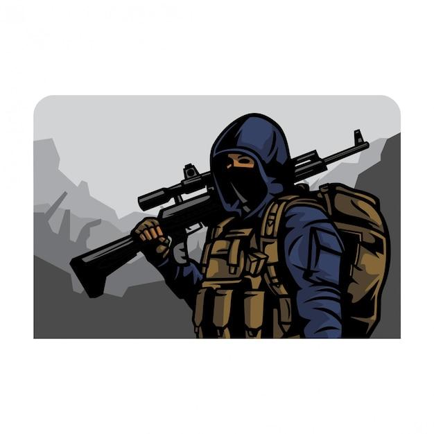 Vecteur armée civile Vecteur Premium